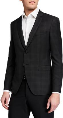 HUGO BOSS Men's Extra Slim Plaid Business Sport Jacket