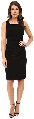 KAMALIKULTURE by Norma Kamali Sleeveless Shirred Waist Dress (Black) Women's Dress