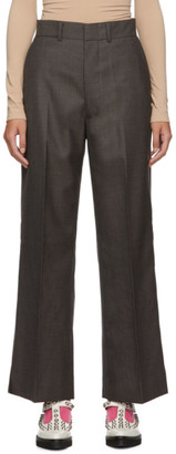 Junya Watanabe Grey Wool Sharkskin Trousers