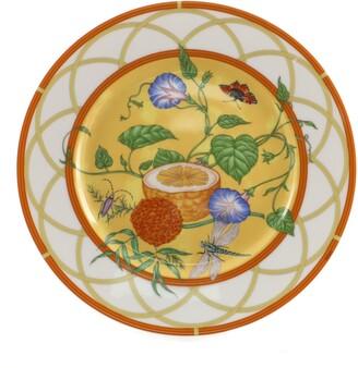 Hermes La Siesta Salad Plate Printed Porcelain
