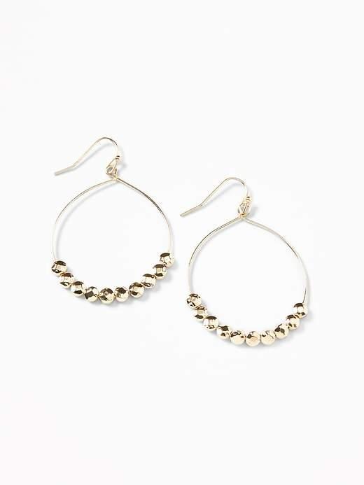 Old Navy Beaded-Drop Hoop Earrings for Women