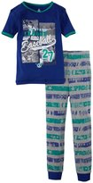 Petit Lem Baseball Fan 2 Piece Pajamas (Toddler/Kid) - Blue-5