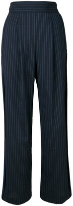 Sueundercover Pinstripe Pleated Trousers