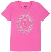 Juicy Couture Girls Logo Starburst Cameo Short Sleeve Tee