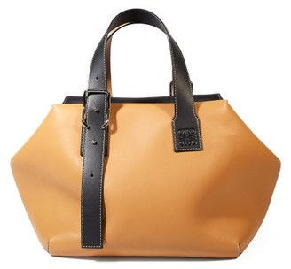 Loewe Cube Large Leather Tote Bag - Womens - Tan Multi