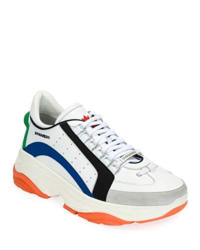 DSQUARED2 Men's High-Sole Colorblock Leather Sneakers