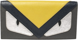 Fendi Multicolor Leather Monster Flap Continental Wallet