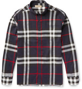 Burberry Slim-Fit Button-Down Collar Checked Cotton-Flannel Shirt