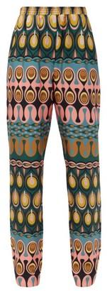 La DoubleJ Printed Silk-twill Trousers - Multi