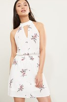 Dynamite Floral Fit And Flare Mock Neck Dress