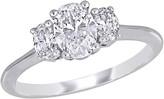 Affinity Diamond Jewelry Affinity 9/10 cttw Diamond 3-Stone Engagement Ring, 18K