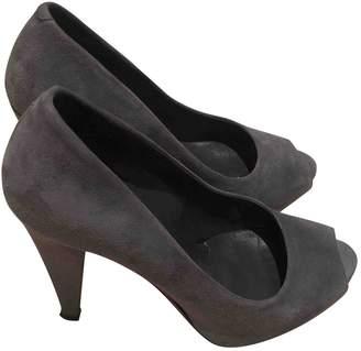 Bally Grey Suede Heels