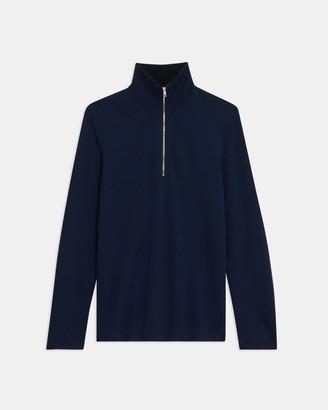 Theory Quarter-Zip Sweater in Merino Wool