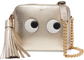 Anya Hindmarch Eyes Metallic Embossed Textured-leather Shoulder Bag - Gold