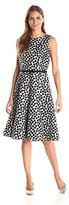 Julian Taylor Women's Polka Dot Printeda-Line Dress