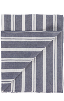 The Hill-Side Linen Blend Crepe Stripe Scarf