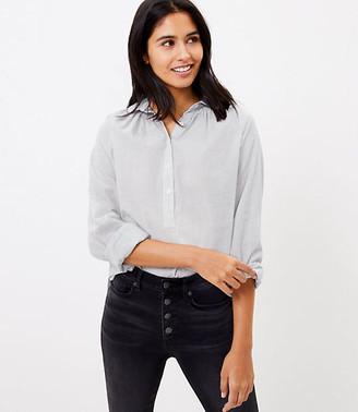 LOFT Striped Henley Shirt