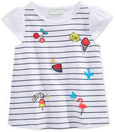 First Impressions Glitter Patch-Print Cotton T-Shirt, Baby Girls (0-24 months), Created for Macy's