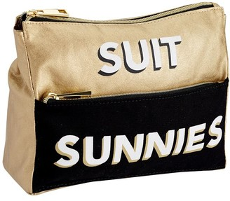 Pottery Barn Teen The Emily & Meritt Black/Gold Suit And Sunnies Pouch
