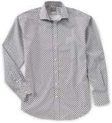 Thomas Dean Big & Tall Printed Long-Sleeve Woven Shirt