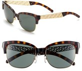 Tory Burch Women's 56Mm Cat Eye Sunglasses - Tortoise/ Gold