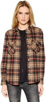 IRO Plaid Cotton & Wool Blend Shirt