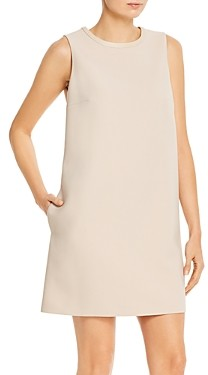 Paule Ka Sleeveless Twill Shift Dress