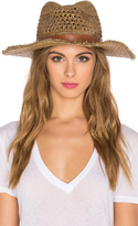 Hat Attack Raffia Cane Weave Continental Hat
