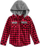 Epic Threads Contrast Hooded Cotton Shirt, Little Boys (4-7), Created of Macy's