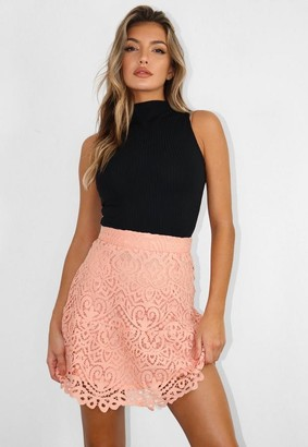 Missguided Co Ord Lace Frill Hem Mini Skirt