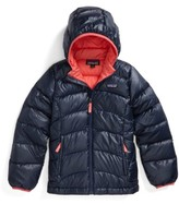 Patagonia Girl's Hi-Loft Down Sweater Hooded Jacket