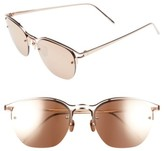 Linda Farrow Women's 55Mm Round Sunglasses - Rose Gold