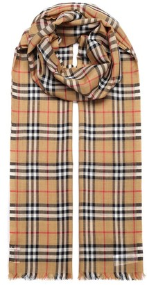 Burberry Vintage Check Lightweight Scarf