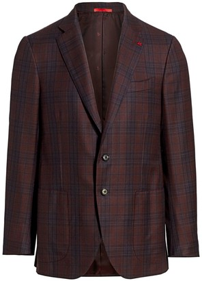 Isaia Classic-Fit Delain Selection Plaid Wool Jacket