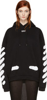 Off-White Ssense Exclusive Black Diagonal Spray Hoodie