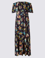 Per Una Floral Print Bardot Maxi Dress