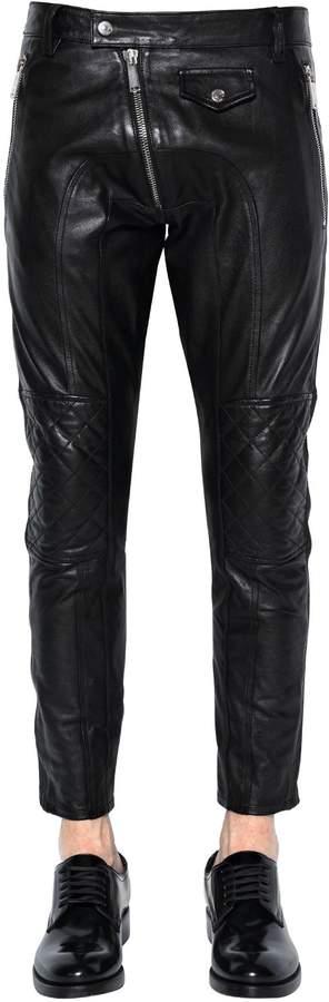 DSQUARED2 15cm Leather Biker Pants