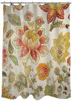 Thumbprintz Botanical Florals Fabric Shower Curtain
