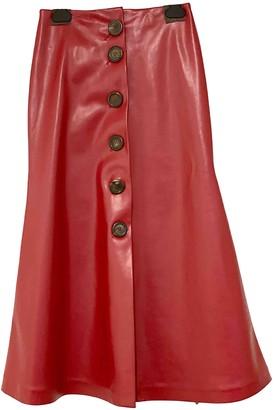 Awake Red Polyester Skirts