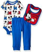Disney Baby Boys' 3 Pack Mickey Mouse Bodysuit