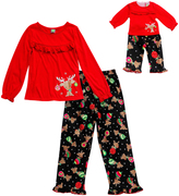 Dollie & Me Black & Red Sleep Top Set & Doll Outfit - Girls