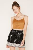 Forever 21 FOREVER 21+ Floral Medallion Mini Skirt