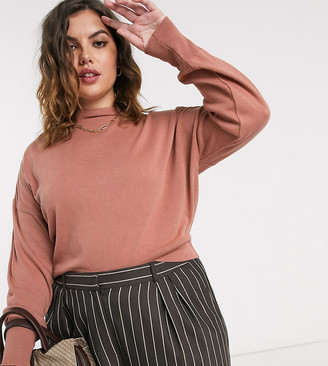ASOS DESIGN Curve grown on high neck cropped sweater