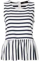 Steffen Schraut striped sleeveless blouse