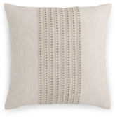 "Hotel Collection Textured Lattice Linen 20"" Square Decorative Pillow"