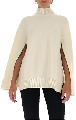 Jil Sander High Neck Cape Sweater