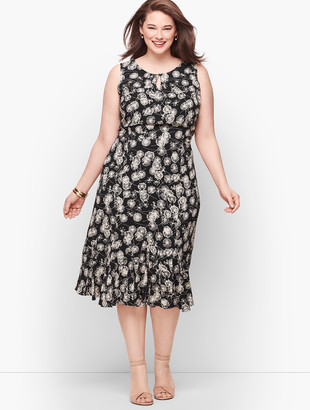 Talbots Sleeveless Fit & Flare Dress