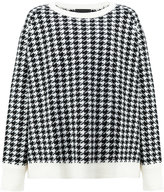 Haider Ackermann houndstooth sweater - men - Leather/Wool - S