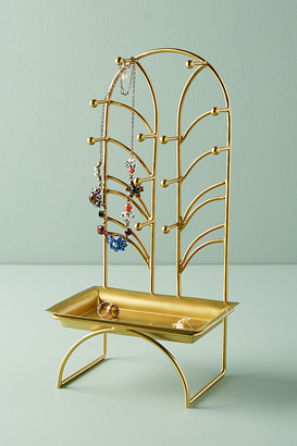 Anthropologie Art Nouveau Jewelry Stand By in Gold Size ALL