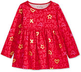 First Impressions Long-Sleeve Graffiti-Print Babydoll Tunic, Baby Girls (0-24 months), Only at Macy's